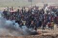 Palestinos se Amotinan en la  Frontera entre Gaza e Israel